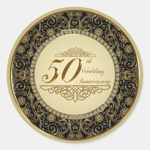 50th Wedding Anniversary Sticker