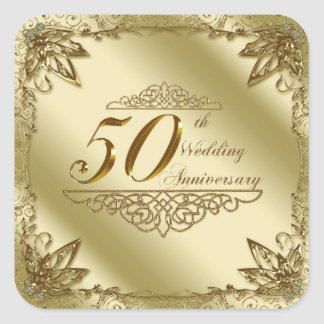 50th Wedding Anniversary Stickers