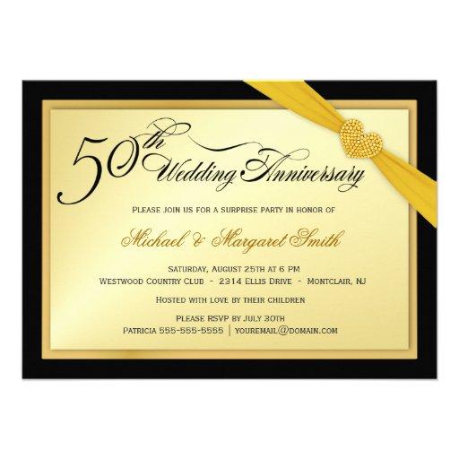 Th wedding anniversary surprise party invitation cm