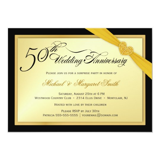 50th Wedding Anniversary Surprise Party Invitation