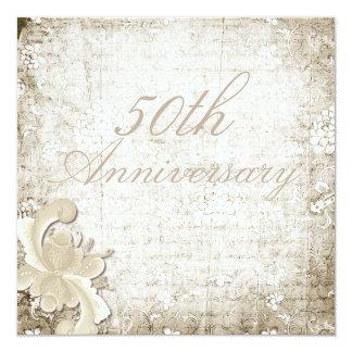 50th Wedding Anniversary Telemark Design Custom 13 Cm X 13 Cm Square Invitation Card