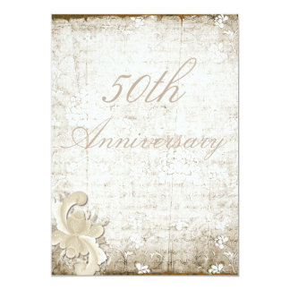 50th Wedding Anniversary Telemark Style Custom 13 Cm X 18 Cm Invitation Card