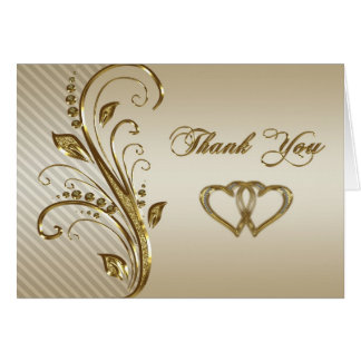50th Wedding Anniversary Thank You Note Card