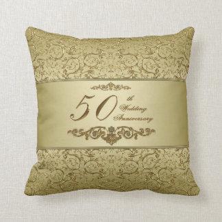 50th Wedding Anniversary Throw Pillow Cushions