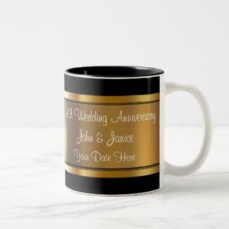 50th Wedding Anniversary Two-Tone Mug
