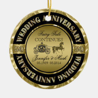 50th Wedding Anniversary-Wedding Horse & Carriage Christmas Ornament