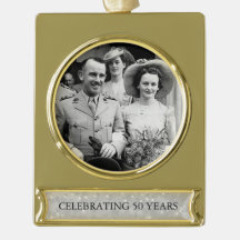 50th Wedding Golden Anniversary Photo Template 3