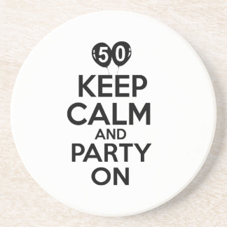 50th year birthday designs coaster