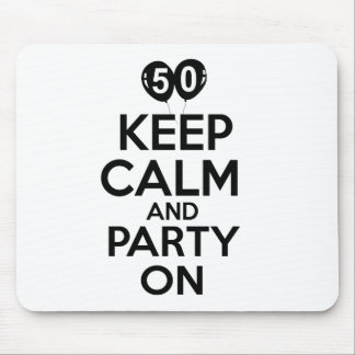 50th year birthday designs mouse pads