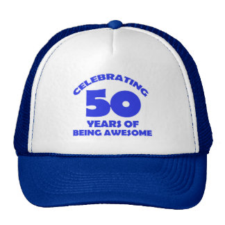 50th year old designs cap