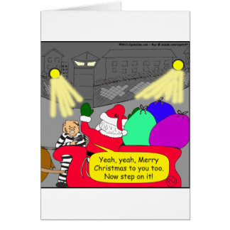 515 prison escape santa cartoon card