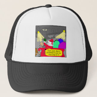 515 prison escape santa cartoon trucker hat