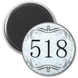 518 Area Code Fridge Magnet