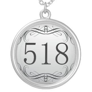 518 Area Code Custom Jewelry