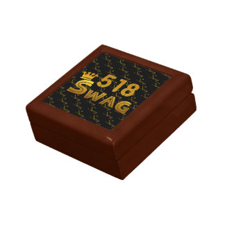 518 Area Code Swag Trinket Boxes