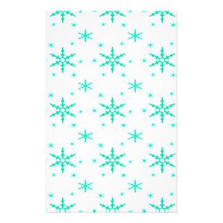518 Cute Christmas snowflake pattern.jpg Custom Stationery
