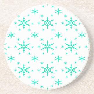 518 Cute Christmas snowflake pattern.jpg Drink Coasters