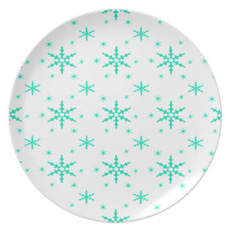 518 Cute Christmas snowflake pattern.jpg Party Plates