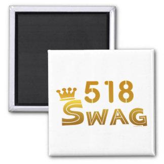 518 New York Swag Square Magnet
