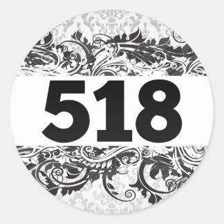 518 ROUND STICKER