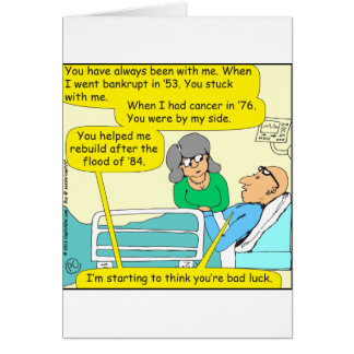 518 youre bad luck cartoon greeting card