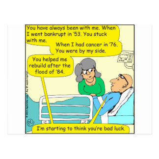 518 youre bad luck cartoon postcard