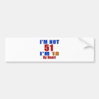 51 American Legend Birthday Designs Bumper Sticker
