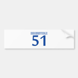 51 birthday design bumper sticker
