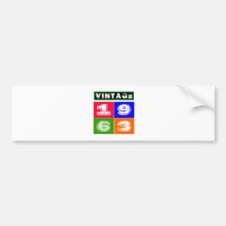 51 Birthday Designs Bumper Sticker