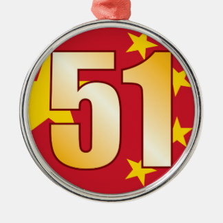 51 CHINA Gold Christmas Ornament