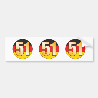 51 GERMANY Gold Bumper Sticker