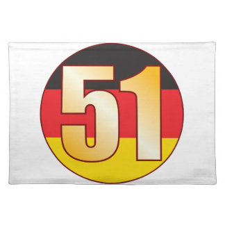 51 GERMANY Gold Placemat