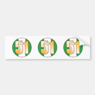 51 NIGERIA Gold Bumper Sticker