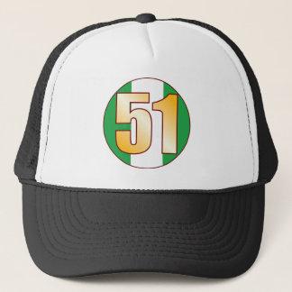 51 NIGERIA Gold Trucker Hat