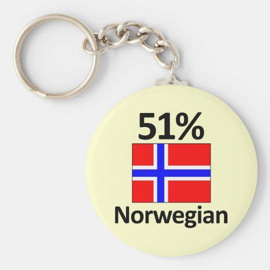 51% Norwegian Basic Round Button Key Ring