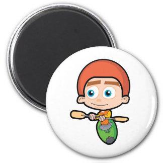 51_paddler2 6 cm round magnet