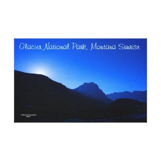 """51"""" x 33"""" Glacier Park Sunrise Wrapped Canvas"""