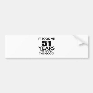 51 years birthday designs bumper sticker