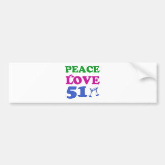 51 years Old birthday designs Bumper Stickers