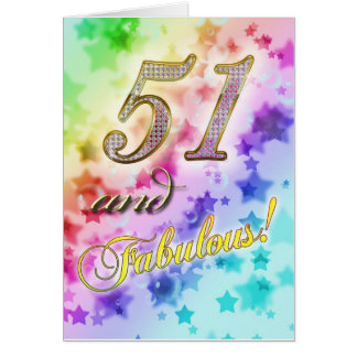 51st birthday for someone Fabulous Card