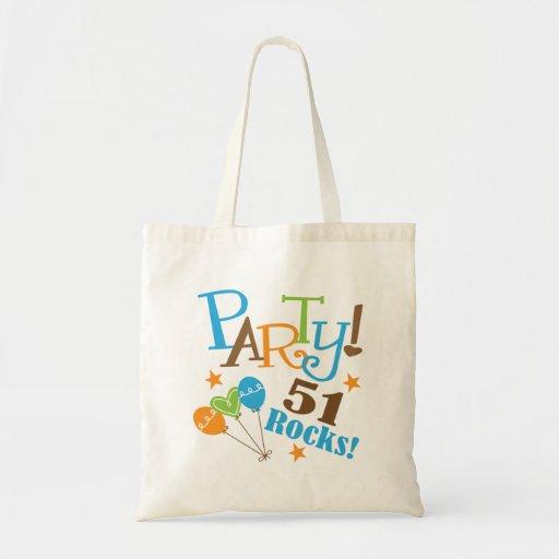 51st Birthday Gift Ideas Canvas Bag