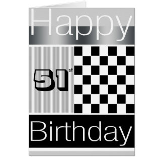 51st Birthday Greeting Card