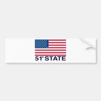 51ststateA.jpg Bumper Sticker