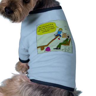 520 award from PTA for most parents cartoon Dog Clothes