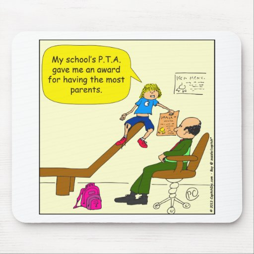 520 award from PTA for most parents cartoon Mouse Pad