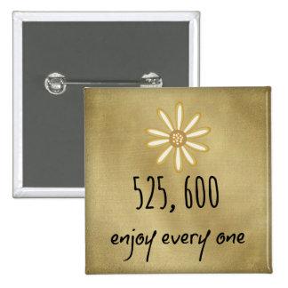 525,600 Enjoy Every Minute 15 Cm Square Badge