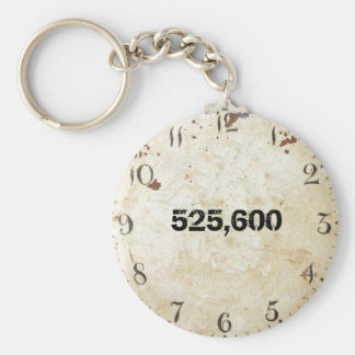 525,600 Minutes Basic Round Button Key Ring