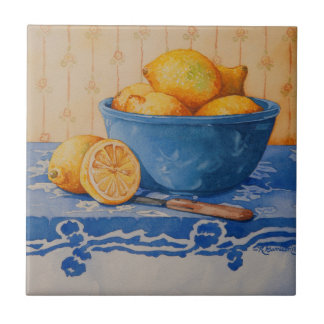 5280 Lemons in Blue Bowl Tile
