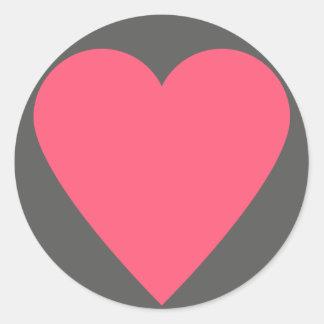 52-card deck Heart Classic Round Sticker