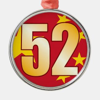 52 CHINA Gold Christmas Ornament
